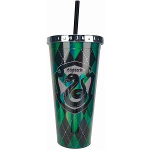 Harry Potter Slytherin Foil Cup with Straw