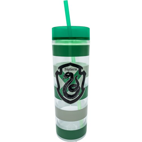 Harry Potter Slytherin Tall Cup with Straw.