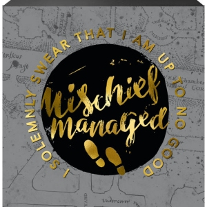 Harry Potter Mischief Managed Box Sign