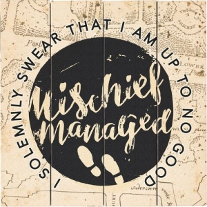 Harry Potter Mischief Managed Wood Sign