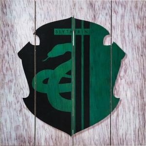 Harry Potter Slytherin Wood Sign