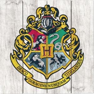 Harry Potter Hogwarts Crest Wood Sign
