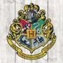 Harry Potter Hogwarts Crest Wood Sign.