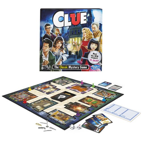 Clue Game. Find out the where. Find out when and how in this classic game of Whodunit. A favorite with detectives of all ages for more than 50 years.