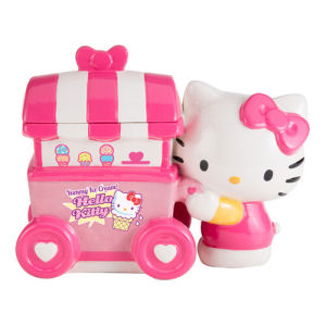 Limited Edition Hello Kitty Ice Cream Cart Ceramic Cookie Jar