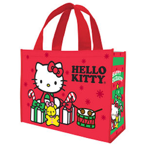 Hello Kitty Happy Holidays Large Gift Tote