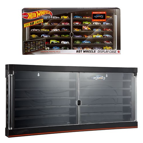 Hot Wheels Display Case. Holds 50 Cars and Comes with an exclusive collector car. Hot wheels or other 1:64 Scale Diecast Vehicles.