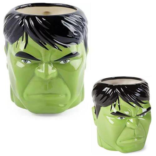 Hulk Head Ceramic Molded Mug.