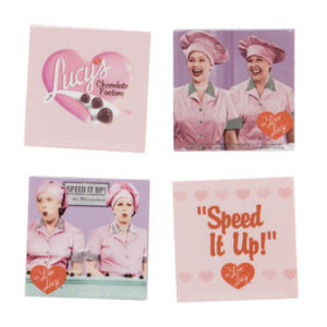 I Love Lucy Chocolate Factory Magnets, Set of 4