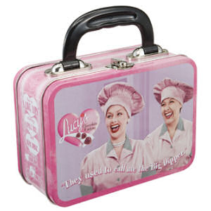 I Love Lucy Job Switching Tin Lunch Box Tote