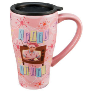 I Love Lucy 16 Ounce Ceramic Travel Mug