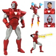 Marvel Select Iron Man (Marvel Now Silver Centurion) Action Figure. Looking ready to fight in the Armor Wars or found the West Coast Avengers, Tony Starks alter ego features 16 points of articulation and multiple interchangeable parts.
