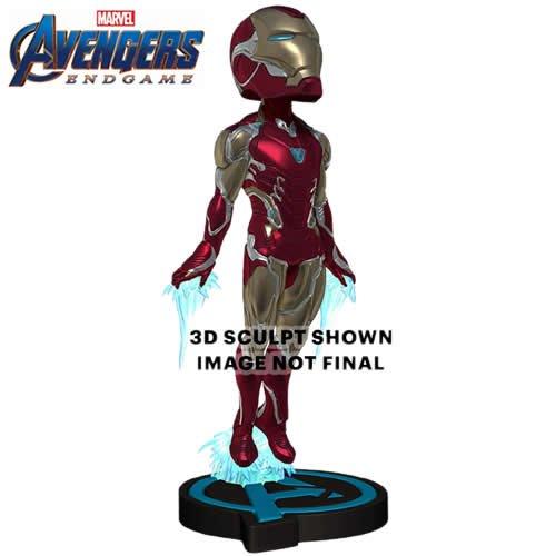 Avengers 4 Endgame Iron Man Head Knockers Bobble Head. Measures 8 inches tall.
