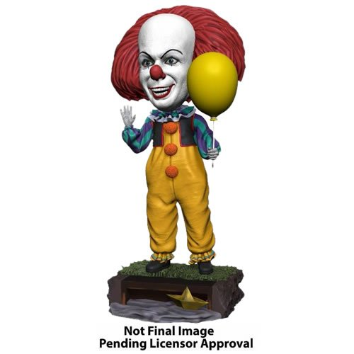 IT Pennywise (1990 Miniseries) Head Knocker Bobble Head. Measures 8 Inches tall.