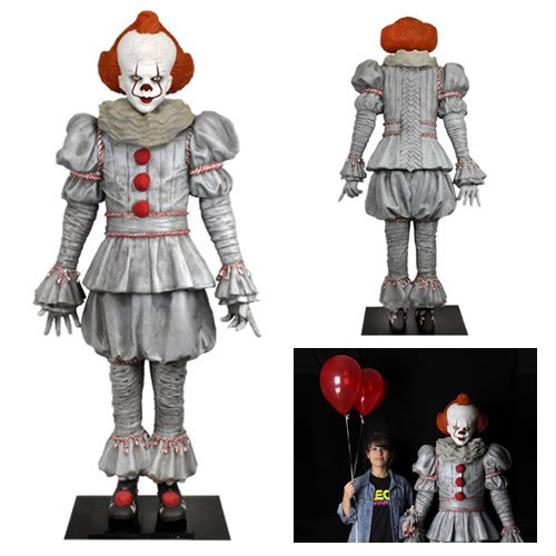 IT: Chapter 2 (2019 Movie) 1/1 Scale Pennywise Life-Size Foam Replica. Pennywise stands over 6 Feet Tall. This life-size foam figure of Pennywise from the newly released IT Chapter Two will add a terrifying presence to any room, from home to office to ret