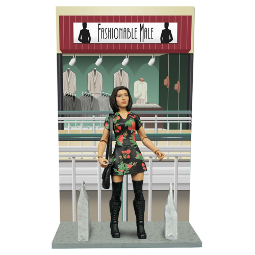 Mallrats Select Series 2 Renee Action Figures. Action figure features approximately 16 points of articulation. Packaged in display-ready Select packaging, with spine artwork for shelf reference.
