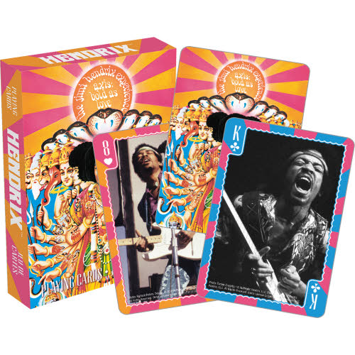 Jimi Hendrix Playing Cards.
