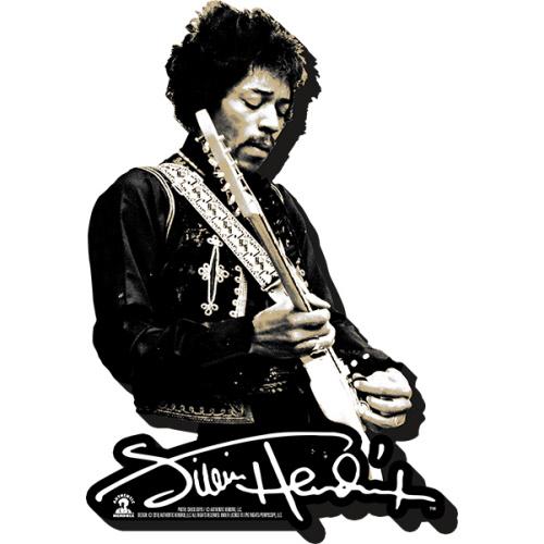 Jimi Hendrix Black and White Funky Chunky Magnet.