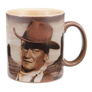 John Wayne A mans got to do... 12 oz. Decal Mug