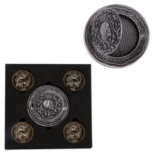 John Wick Chapter 2 Blood Oath Marker and Continental Coin Prop Replica Set