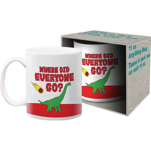 Where Did Everyone Go? 11 Ounce Boxed Mug.