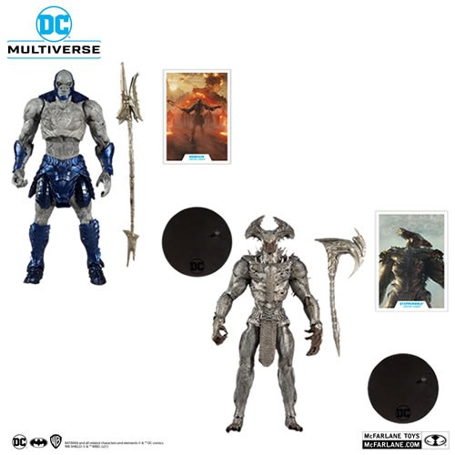 Justice League (2021 Movie) - 7 Scale Megafigs Action Figure Assortment. Assortment Includes Darkseid and Steppenwolf Action figures.
