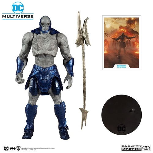 Justice League (2021 Movie) 7 Inch Scale Megafigs Darkseid Action Figure. Designed with Ultra Articulation with up to 22 moving parts for full range of posing and play.