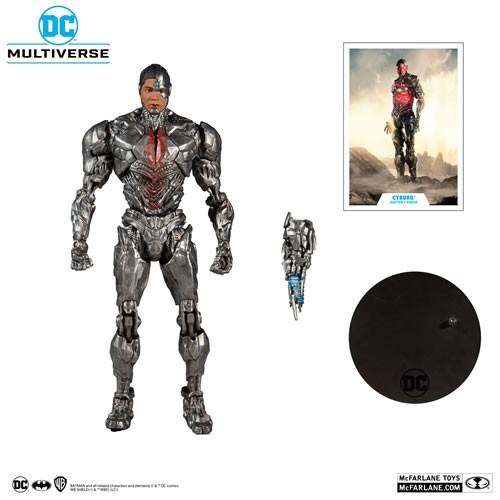 Justice League Cyborg 7 Inch Scale DC Multiverse Action Figure.