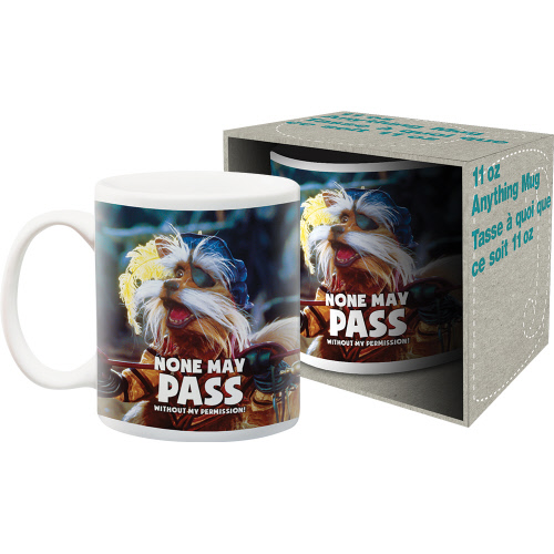 Labyrinth Sir Didymus 11 Ounce Boxed Mug. Says None may pass without my permission.