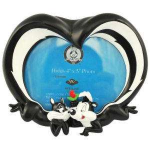 Warner Brothers Looney Tunes Pepe Le Pew and Penelope Tails Frame 4x5
