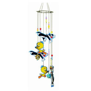 Looney Tunes Tweety Bird and Sylvester Chase Metal Wind Chimes