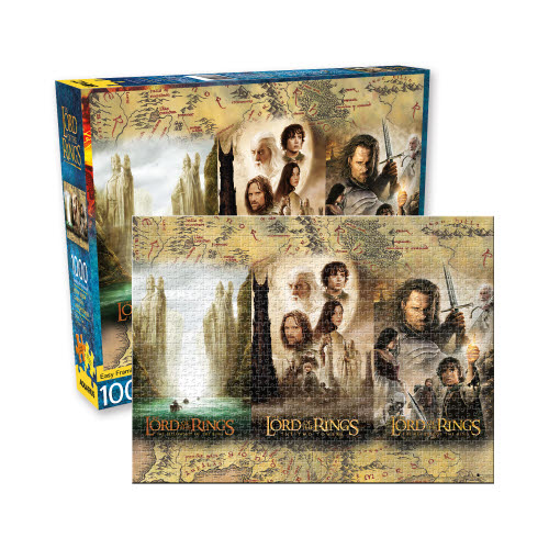 The Lord of the RingsTriptych 1000 Piece Puzzle. The Three movie posters in one puzzle.