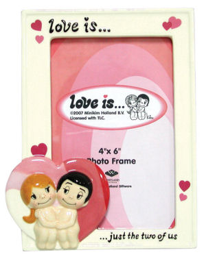 Love is… just the two of us. Westland Giftware Picture Frame