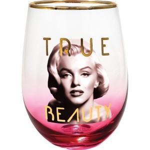 Marilyn Monroe True Beauty Stemless Wine Glass