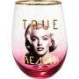 Marilyn Monroe True Beauty Stemless Wine Glass.