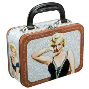 Marilyn Monroe Rectangular Tin Lunch Box Tote