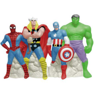 Marvel Comics Superheroes Magnetic Salt and Pepper Shakers