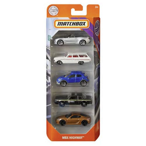 Matchbox 5-Pack Assortment 1:64 Scale Diecast Vehicles. Each pack features a set of five vehicles loaded with realistic details from the bumper to the fender, like rolling wheels and true-to-life decos.