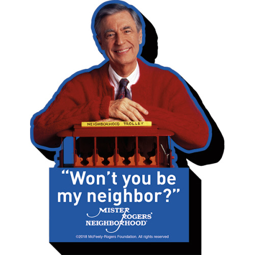 Mr Rogers Neighbor Funky Chunky Magnet. Mr, Rogers ask the Iconic question.