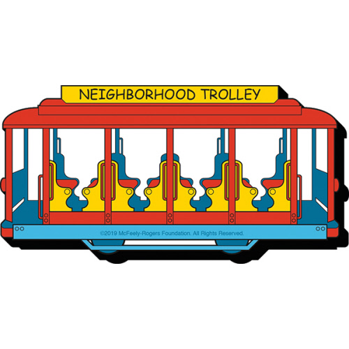 Mister Rogers Trolley Funky Chunky Magnet