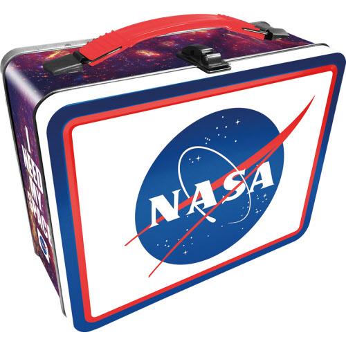 NASA Logo Large Gen 2 Fun Lunch Box Tin Tote.
