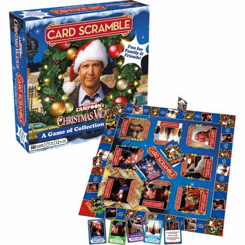 Christmas Vacation Card Scramble Board Game