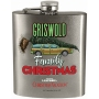 National Lampoon Christmas Vacation Flask. Says Griswald family vacation on the front.