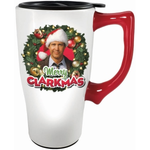 National Lampoon Christmas Vacation Merry Clarkmas Travel Mug with Handle