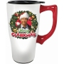 National Lampoon Christmas Vacation Merry Clarkmas Travel Mug with Handle.