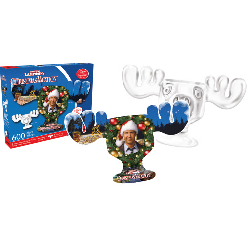 Christmas Vacation 2 Sided - Shaped Puzzle 600 Piece Puzzle.
