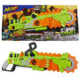 Nerf Zombie Strike Brainsaw. Saw blade is made from soft foam. Pull the string to spin the sawblade. Includes 8 darts.