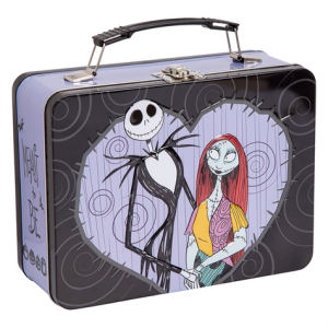 The Nightmare Before Christmas Jack and Sally Lunch Box Large Tin Tote
