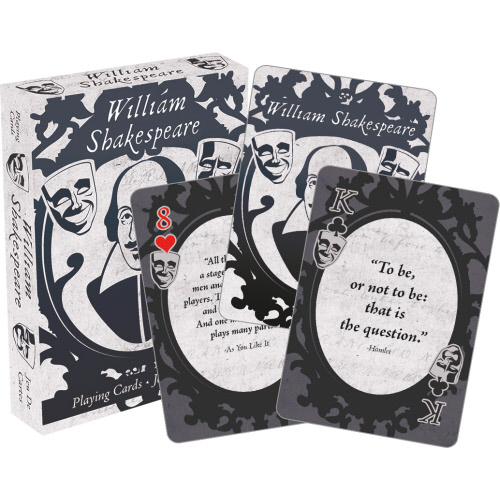 William Shakespeare Playing Cards. Cards have Shakespearian Quotes on each one.