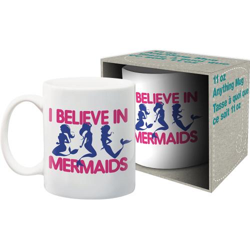 I Believe In Mermaids 11 Ounce Boxed Mug.